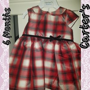 Carter's plaid formal holiday dress